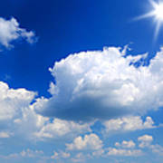 Sun And Clouds Art Print