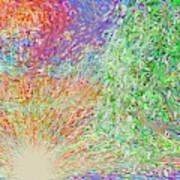 Sun Circles Earth Art Print