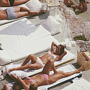 Sunbathers At Eden Roc Art Print
