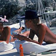 Sunbathing In Antibes Art Print