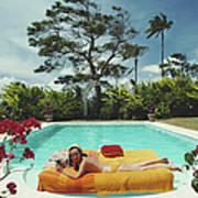 Sunbathing In Barbados Art Print