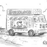 Sunblock Art Print