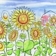 Sunflower Gods Art Print
