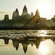 Sunrise At Angkor Wat Art Print