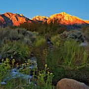 Sunrise At Mount Whitney From Tuttle Creek Art Print