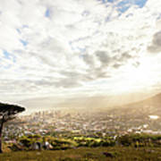 Sunrise Over Cape Town South Africa Art Print