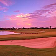Sunrise View Of A Resort On A Golf Art Print