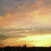 Sunset 092118 1a Art Print