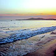 Sunset At Butterfly Beach, Santa Art Print