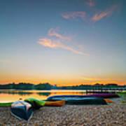 Sunset At Kayak Putrajaya Lake Art Print