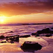 Sunset At Laguna Beach Art Print
