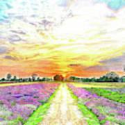 Sunset - Colors Of Nature Art Print