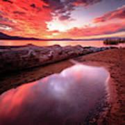 Sunset Harmony At Kiva Beach Art Print