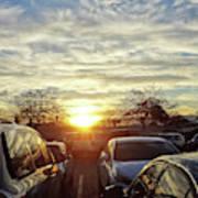 Sunset In Parking Lot 2 Art Print