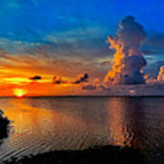 Sunset On Cudjoe Bay 8584 Art Print