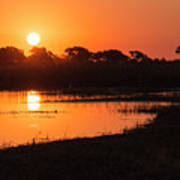 Sunset On The Chobe River Art Print