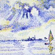 Sunset On The Lagoon, Venice - Digital Remastered Edition Art Print