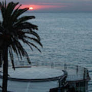 Sunset Over A Balcony Art Print