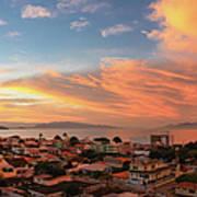Sunset Over Florianopolis Art Print