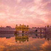 Sunset Over Sikhisms Holliest Art Print