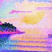 Sunset Over The Sea - Digital Remastered Edition Art Print