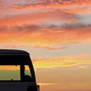 Sunset With The Van Art Print