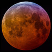 Super Wolf Blood Moon Lunar Eclipse Of 2019 Art Print