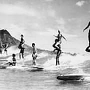 Surf Stunts Art Print