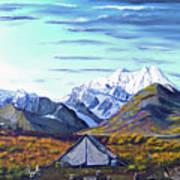 Susitna River Camp Art Print