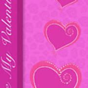 Sweet Pink Valentines IIi Art Print