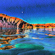 Swells And Reflections Lake Powell Art Print