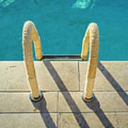 Swimming Pool Ladder, Los Angeles Art Print