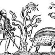 Swine Hunting, 9th Century, 1833 Art Print