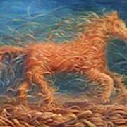 Swirly Horse 1 Art Print