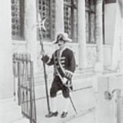 Swiss Guard At St. Marco Church Art Print