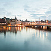 Switzerland, Lucerne, View Of Art Print