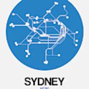 Sydney Blue Subway Map Art Print