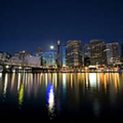 Sydney Darling Harbour Twilight Art Print