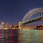 Sydney Harbor Bridge At Night, Sydney Art Print