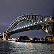 Sydney Harbor Bridge Night View Art Print