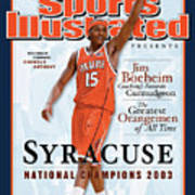Syracuse University Carmelo Anthony, 2003 Ncaa National Sports Illustrated Cover Art Print
