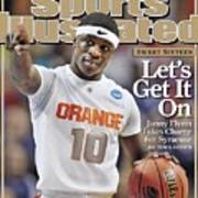 Syracuse University Jonny Flynn, 2009 Ncaa South Regional Sports Illustrated Cover Art Print