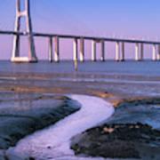 Tagus River And Vasco Da Gama Bridge Art Print