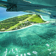 Taking Off From Great Barrier Reef Art Print