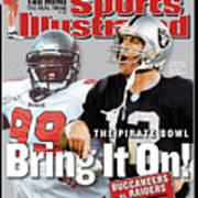 Tampa Bay Buccaneers Vs Oakland Raiders, Super Bowl Xxxvii Sports Illustrated Cover Art Print