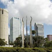 Tampa Skyline, 2007 Art Print
