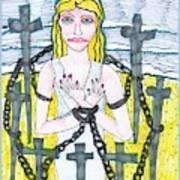 Tarot Of The Younger Self Eight Of Swords Art Print
