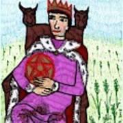 Tarot Of The Younger Self King Of Pentacles Art Print