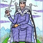 Tarot Of The Younger Self King Of Swords Art Print