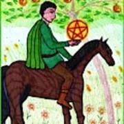 Tarot Of The Younger Self Knight Of Pentacles Art Print